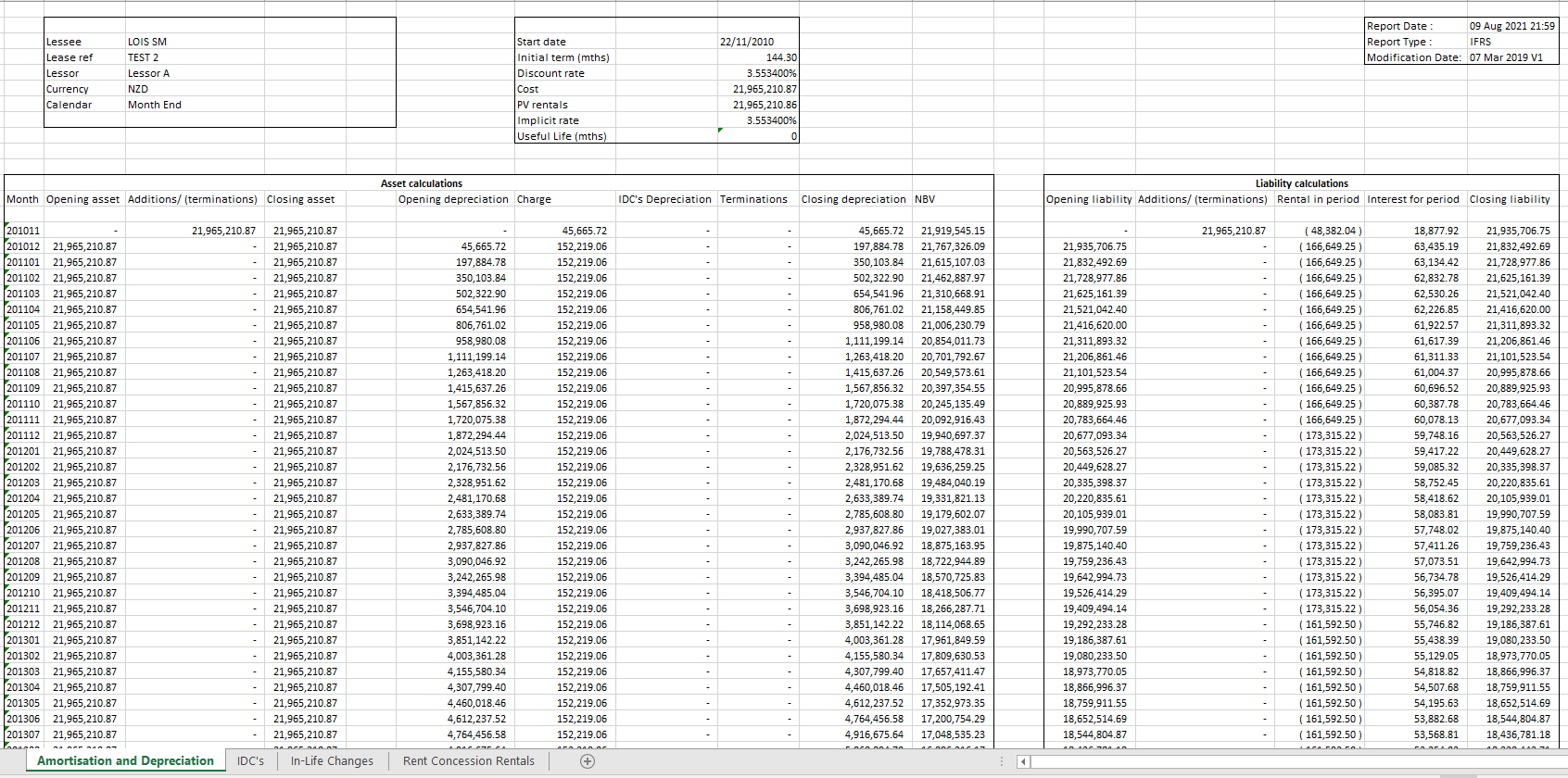 Amort Excel Example